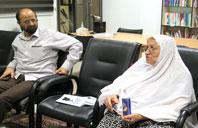 خانم کاظمی و آقای فاطمی و بحث و بررسی درباره مرحوم احمد پوستچی